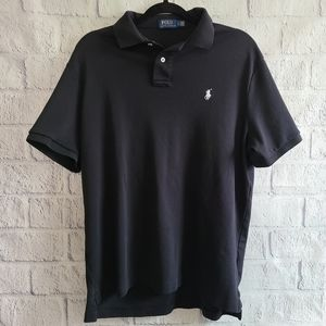 Ralph Lauren Men's Black Polo Logo Size Large